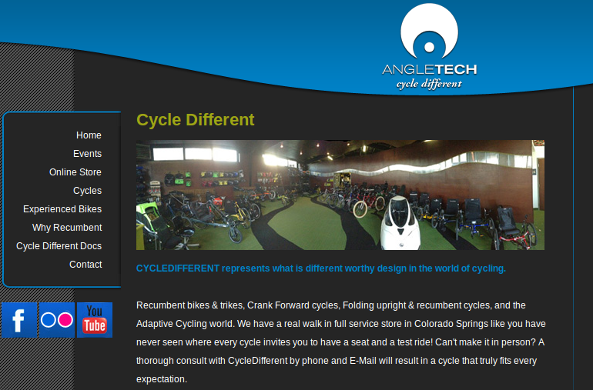 Angletech Cycles website