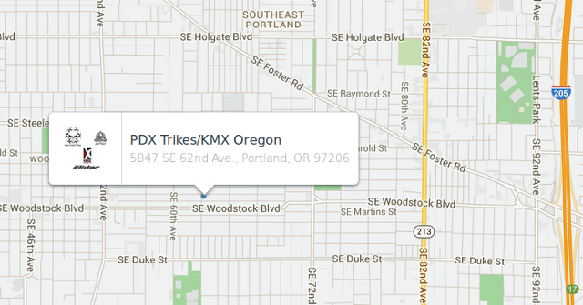 PDX Trikes map