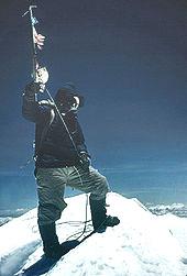 Tenzing Norgay on Everest