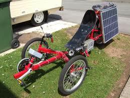 solar charging motorized trike
