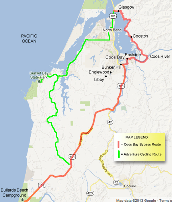 Coos Bay Bypass Map