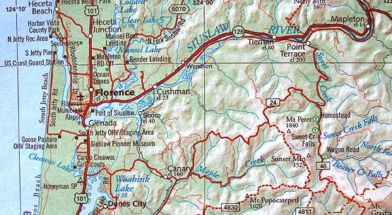 Sweet Creek Map