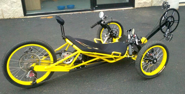 William Cortvriendt yellow trike