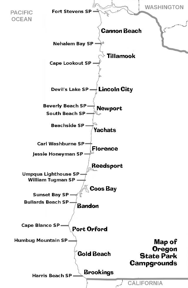 4x7 Map of Campgrounds