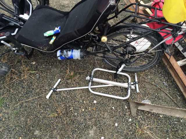 Matt Galat crashed trike 2