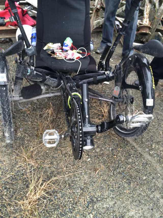 Matt Galat crashed trike 4