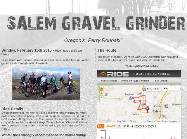 Salem Gravel Grinder