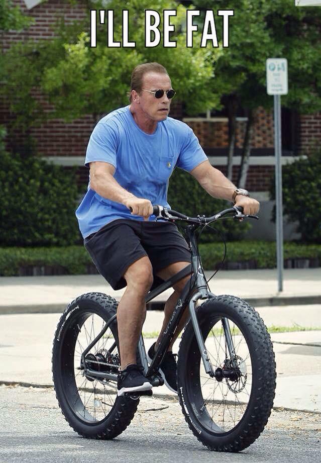 Terminator Arnold On His Fatbike Trike Asylum