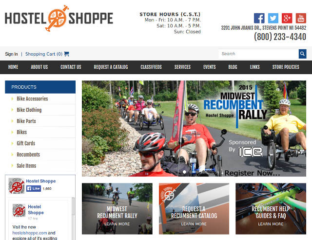 Hostel Shoppe Webpage
