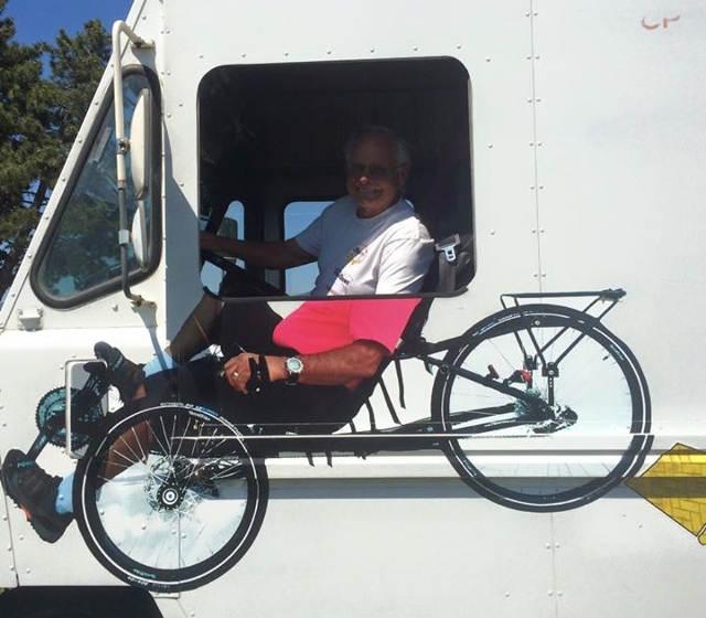 Trike painted on Van
