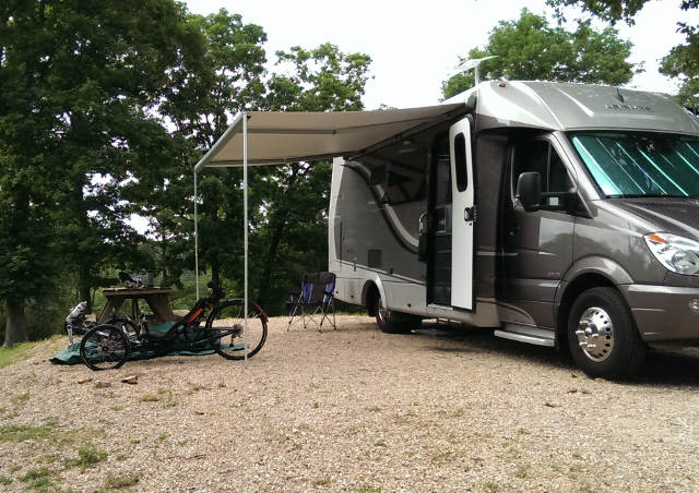 We found great RV sites everywhere!