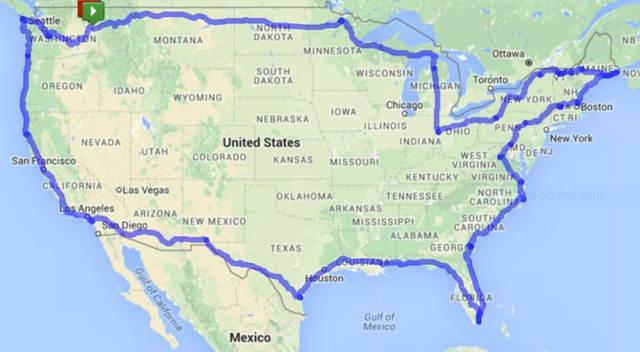 Deb Aker Trike Journey Map